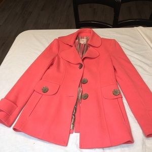 Flawless Nanette Lepore Peach Wool Coat